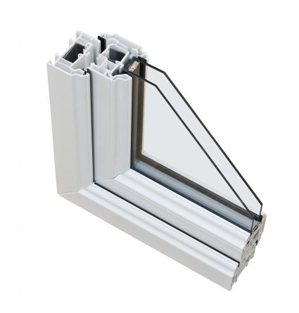 An image of a part of a double glazing fixture