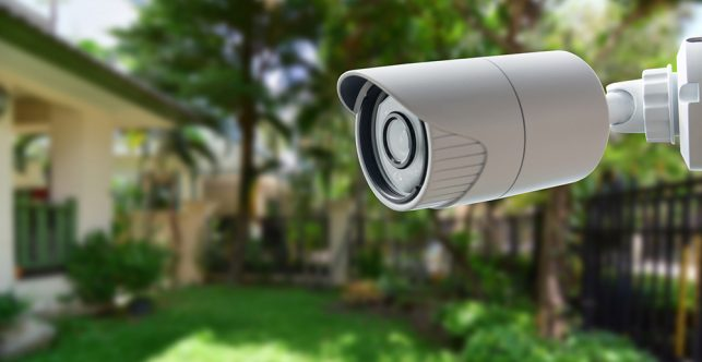 An image of an outside security camera