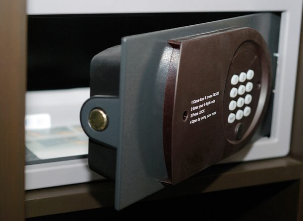 Image of an open safe