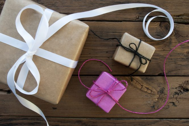 An image of a group of gift wrapped boxes
